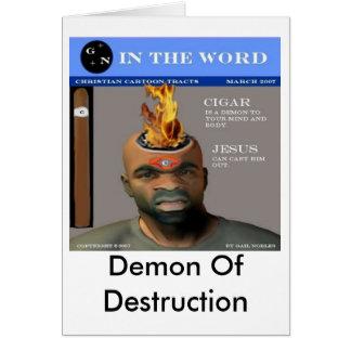 Demonio de la destrucción tarjeta de felicitación