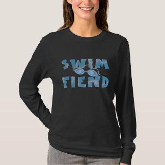 Demonio de la nadada - camiseta larga de la nadada