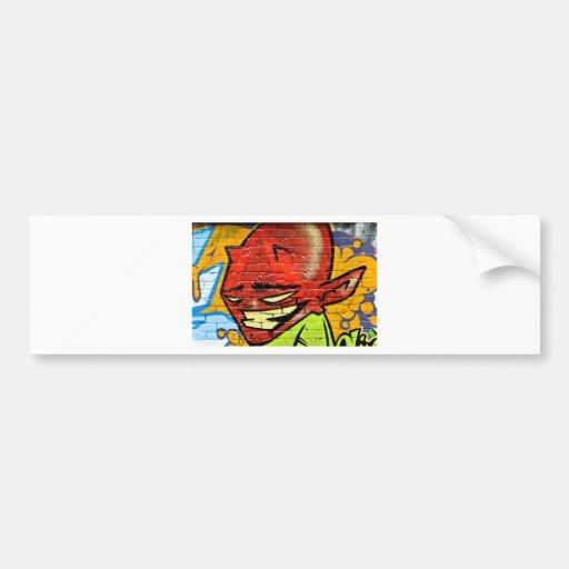 Demonio de la pintada etiqueta de parachoque
