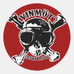 Demonio de velocidad de VINMOT (quebradizo) Etiquetas Redondas
