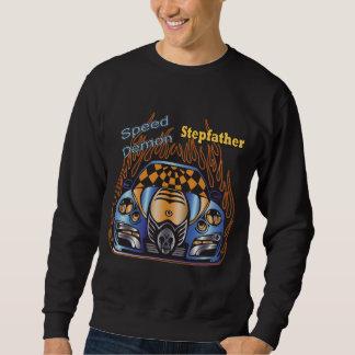 Demonio de velocidad del padrastro que compite con suéter