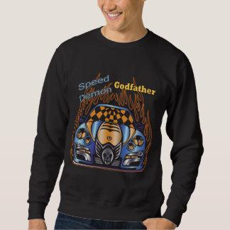 Demonio de velocidad del padrino que compite con suéter