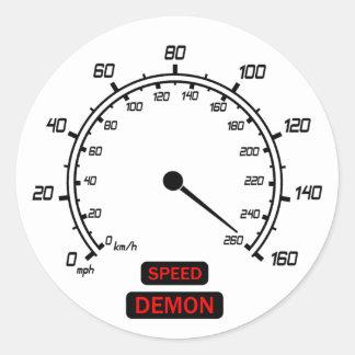 Demonio de velocidad pegatinas redondas