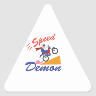 Demonio de velocidad pegatina triangular