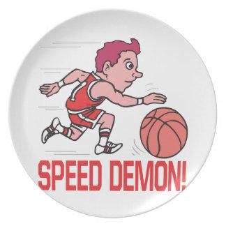 Demonio de velocidad plato de comida