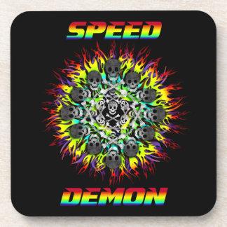 demonio de velocidad posavaso
