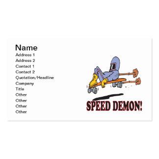 Demonio de velocidad plantillas de tarjetas personales