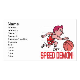 Demonio de velocidad tarjetas de visita