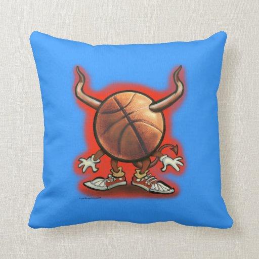 Demonio del baloncesto cojines