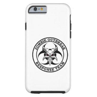 Demonio del Biohazard del brote del zombi Funda De iPhone 6 Tough