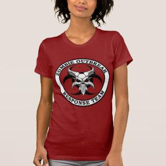 Demonio del Biohazard del brote del zombi T-shirt