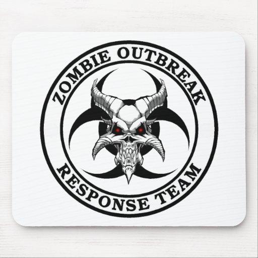 Demonio del Biohazard del brote del zombi Tapetes De Ratones