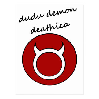 demonio del dudu tarjetas postales