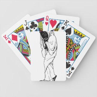 Demonio del truco o de la invitación oculto cartas de juego