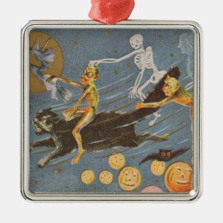 Demonio esquelético de la bruja del fantasma del g ornaments para arbol de navidad