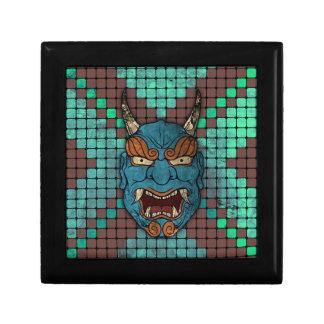 Demonio japonés cajas de joyas