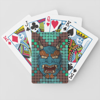 Demonio japonés barajas de cartas