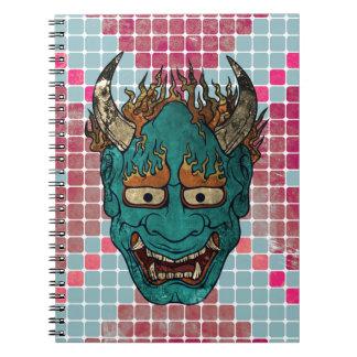 Demonio japonés spiral notebooks