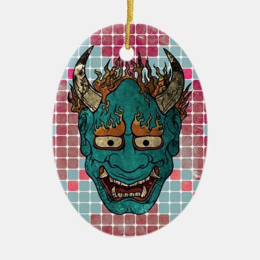 Demonio japonés ornamento para arbol de navidad