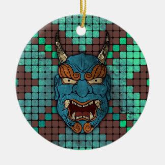 Demonio japonés ornamentos de navidad