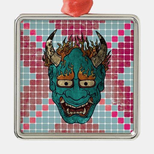 Demonio japonés ornamentos para reyes magos