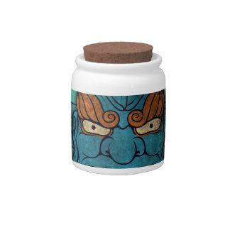 Demonio japonés jarras para caramelos