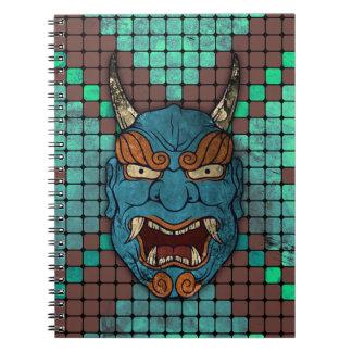 Demonio japonés libro de apuntes