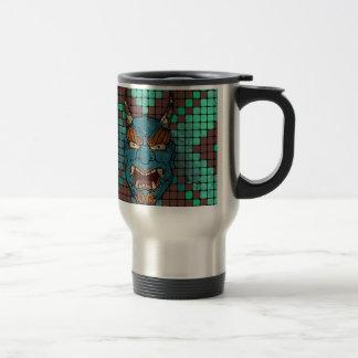 Demonio japonés taza de café