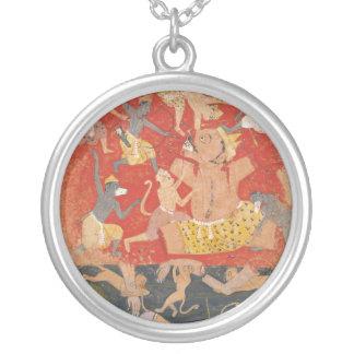 Demonio Kumbhakarna derrotado por Rama y Lakshmana Colgante Redondo