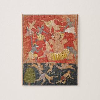Demonio Kumbhakarna derrotado por Rama y Lakshmana Puzzle