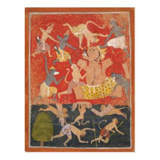 Demonio Kumbhakarna derrotado por Rama y Lakshmana Postales