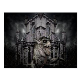 Demonio oscuro de Halloween Postal