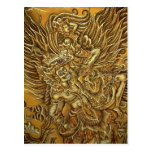 Demonio, pájaro y príncipe Rama de Garuda Tarjeta Postal