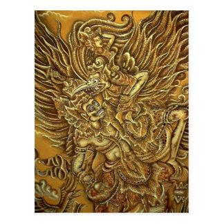 Demonio pájaro y príncipe Rama de Garuda Tarjeta Postal