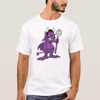 Demonio púrpura del dibujo animado playera