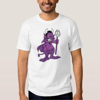 Demonio púrpura del dibujo animado remera