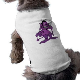 Demonio púrpura del dibujo animado ropa de perro