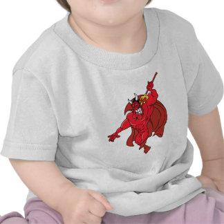 Demonio rojo vengativo camisetas