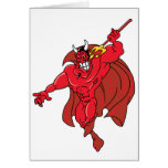 Demonio rojo vengativo tarjeton