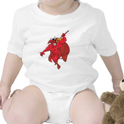 Demonio rojo vengativo trajes de bebé