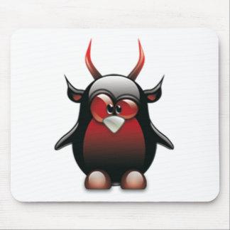 Demonio Tux (Linux Tux) Alfombrillas De Ratón