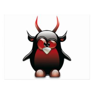 Demonio Tux (Linux Tux) Postal