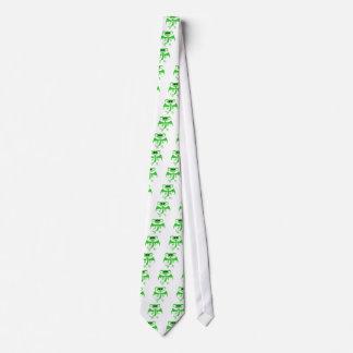 Demonio verde corbata personalizada