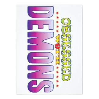"""Demonios 2 obsesionados invitación 5.5"""" x 7.5"""""""