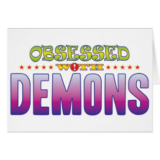 Demonios 2 obsesionados tarjeta de felicitación