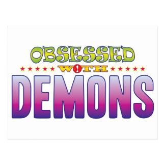 Demonios 2 obsesionados tarjetas postales