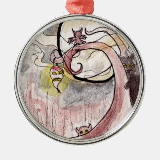 Demonios de la linterna y del gato del nabo ornamentos de reyes