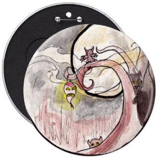 Demonios de la linterna y del gato del nabo pin