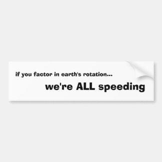 demonios de velocidad pegatina de parachoque