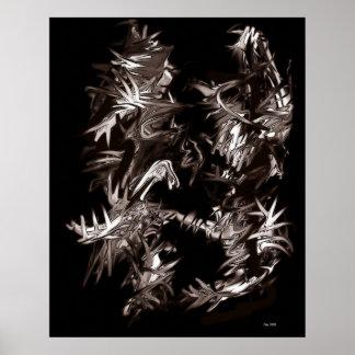 Demonios en disfraz con violencia póster